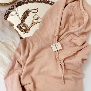 NWT Free People Hoodie Sweatshirt Gauze Maxi Dress